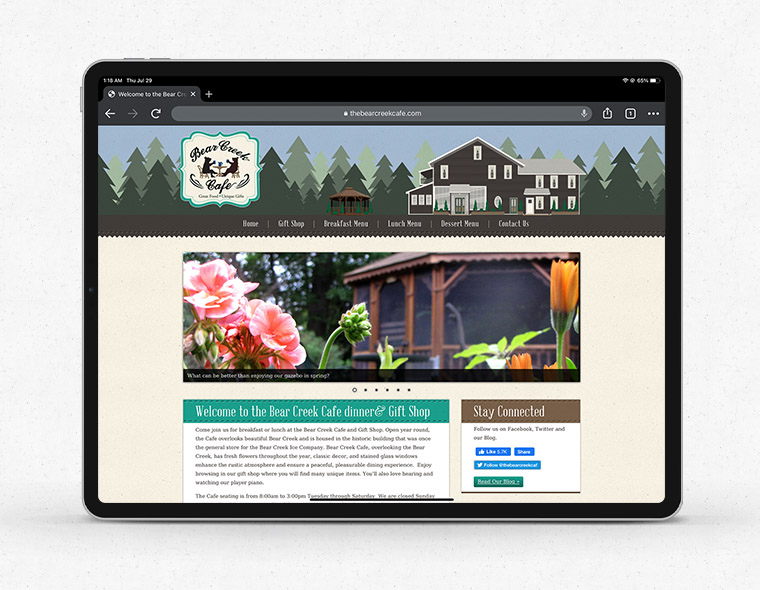 The Bear Creek Cafe - Tablet Size