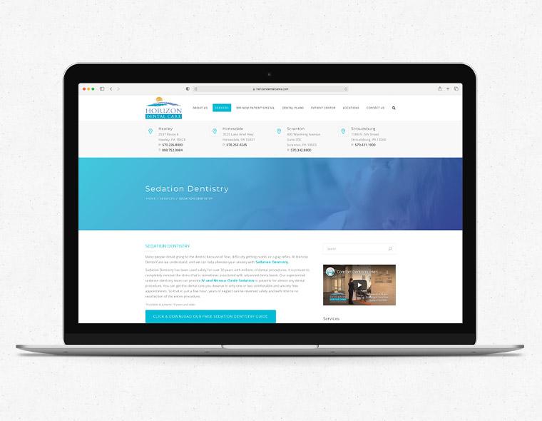 Horizon Dental Website - Laptop