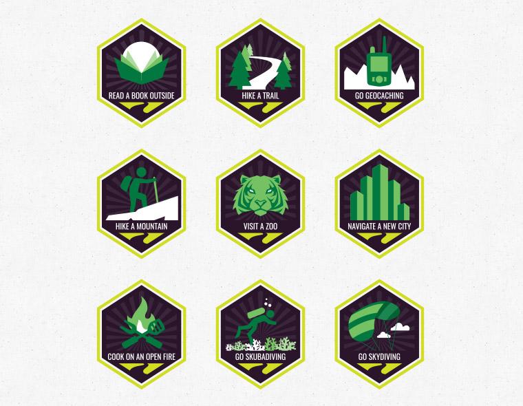 Gadabout Achievement Badges
