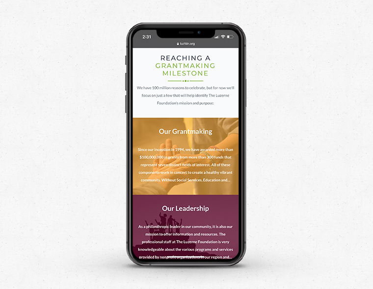 The Luzerne Foundation - Mobile Device