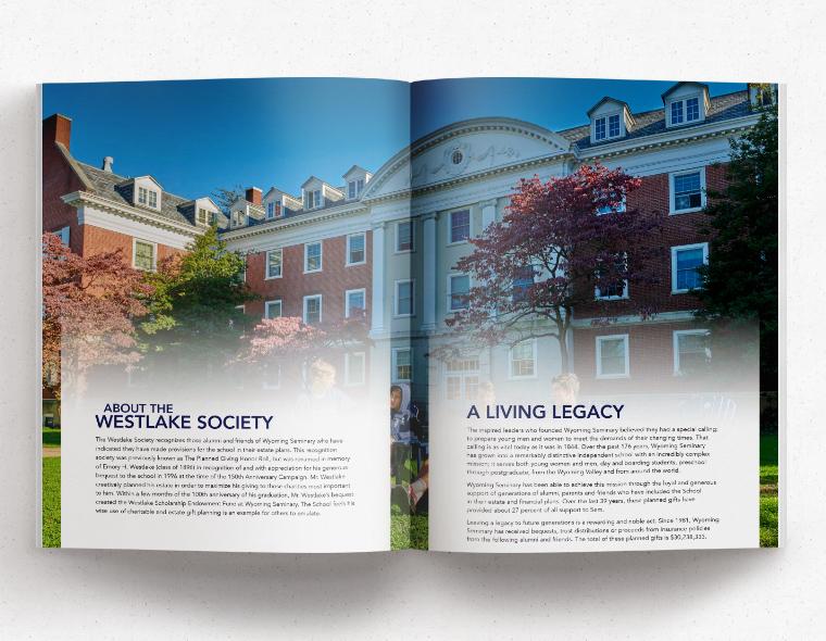 Westlake Society Brochure - Inside Spread 1