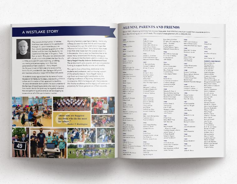 Westlake Society Brochure - Inside Spread 2