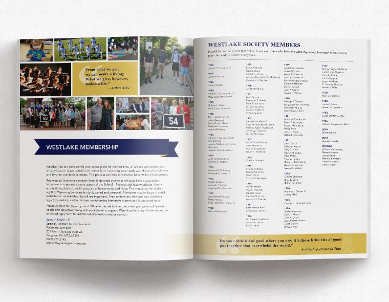 Westlake Society Brochure - Inside Spread 3