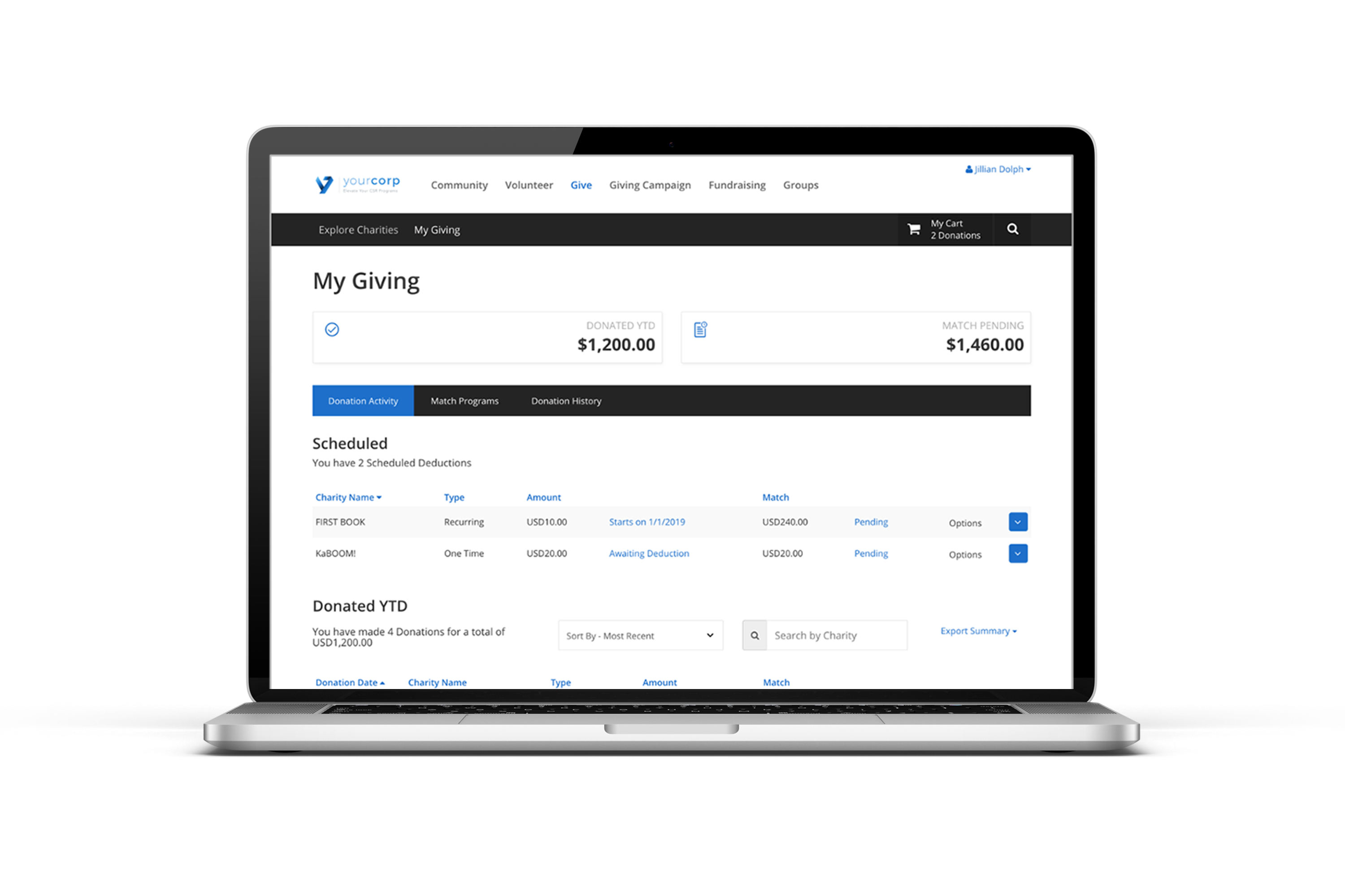csr software that powers employee giving