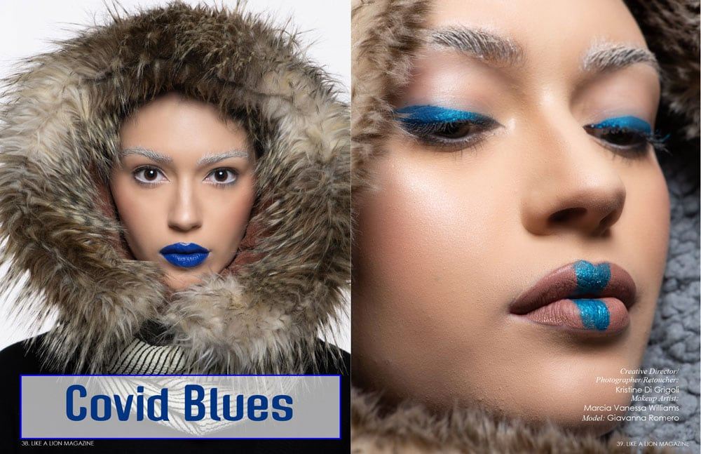 Covid Blues a Fashion Editorial