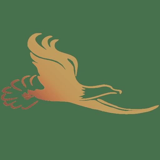 Eagle - Just Eagle Bird FILLED IN in Logo