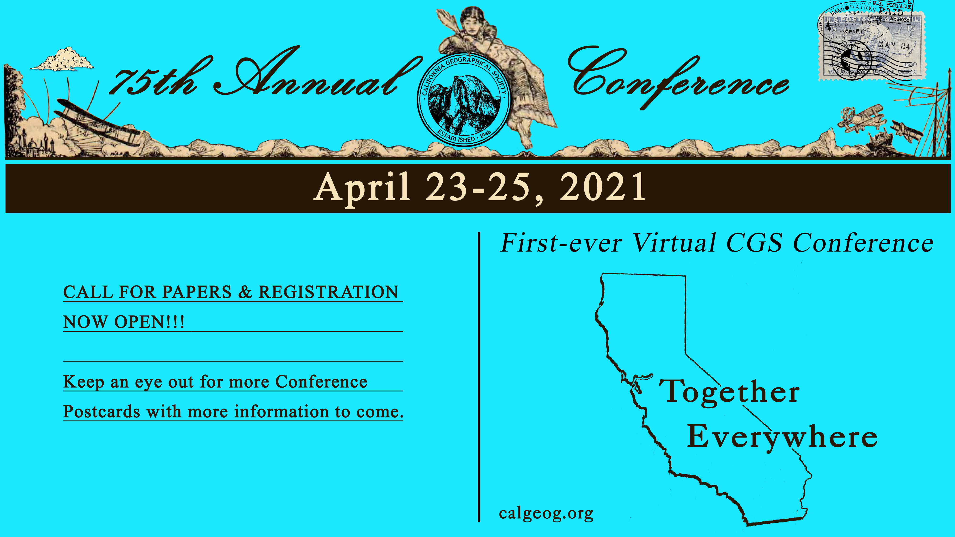 This image is a postcard announcing call for papers and registration.