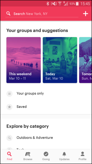 top travel apps - Meetup.com - ease of use