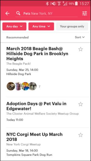 top travel apps - Meetup.com -popularity