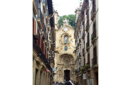Basílica de Nuestra Señora del Coro (Basilica of Saint Mary of the Choir), Old Town, San Sebastian, Spain.