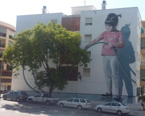 Trompe-l'oeil mural in Estepona, Spain