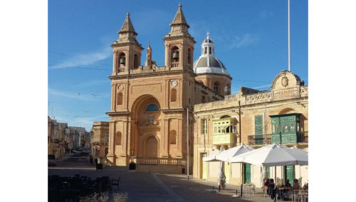 Marsaxlokk parish church, southern Malta
