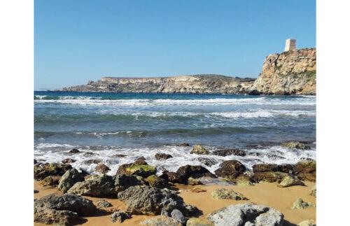 Għajn Tuffieħa cove, northwestern Malta