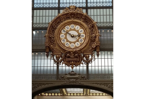 Beaux-arts clock, Musee d'Orsay, Paris