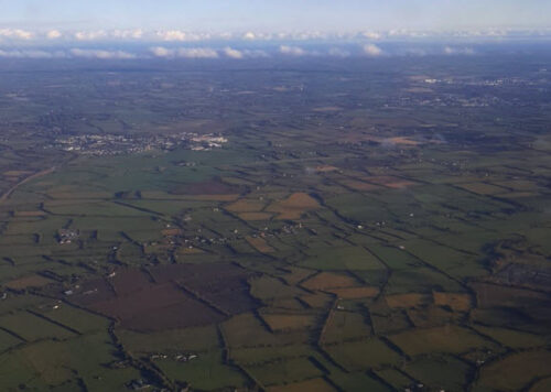 Patchwork of greens, Irish countryside