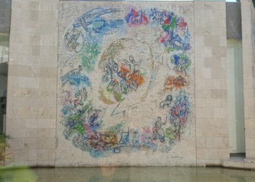 Chagall's Le prophète Elie (The Prophet Elijah) mosaic