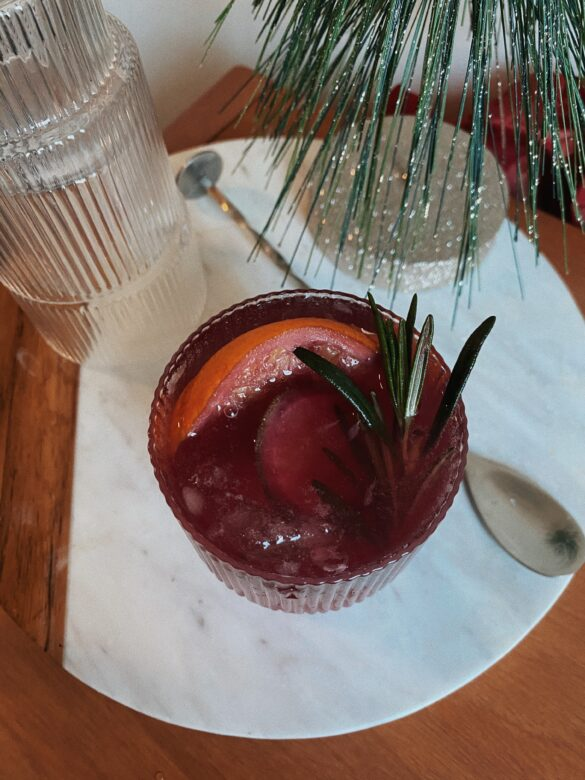 easy holiday sangria