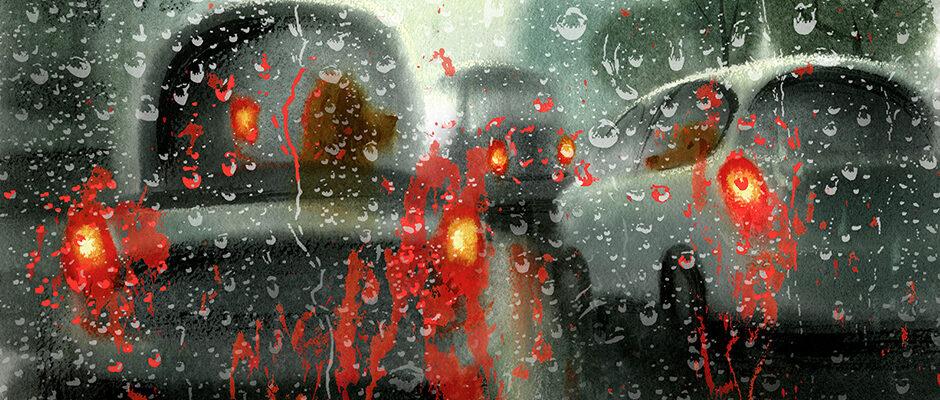 Shannon Jeffries Inspired Art - California Fires Rain Jam