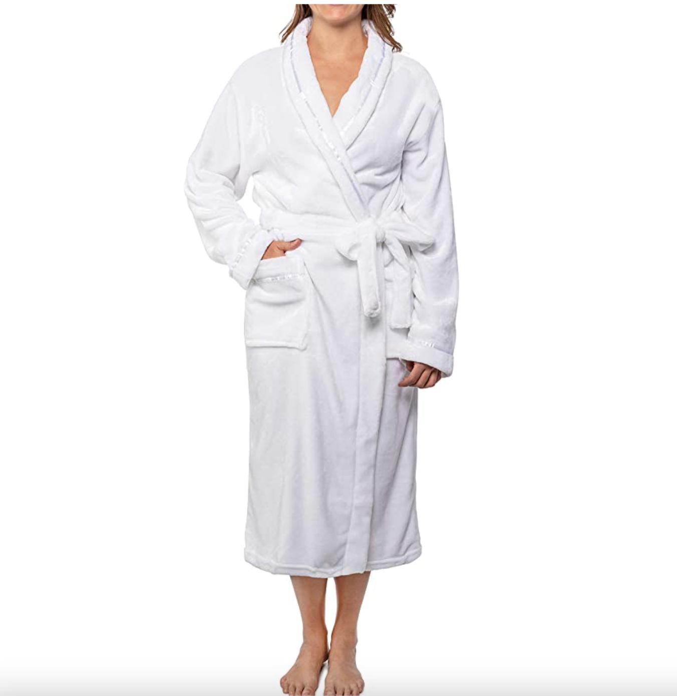 Pavilia Premium Womens Fleece Robe