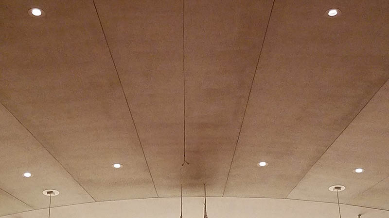 Ceiling dirt and discoloration