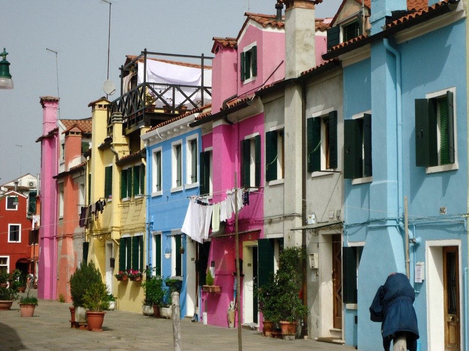 Image of Coloured Houses in Burano, Venice, Italy