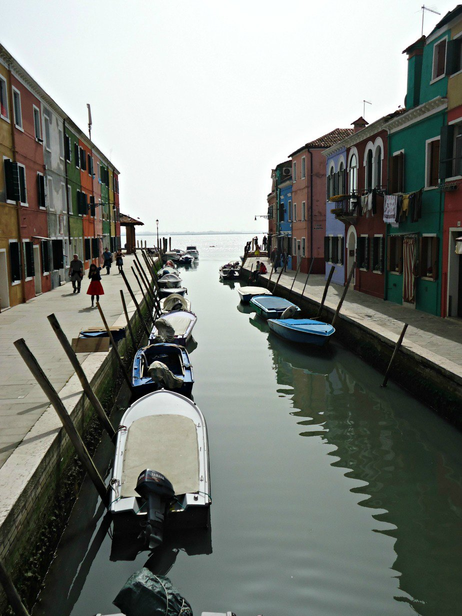 Canal in Burano Venice
