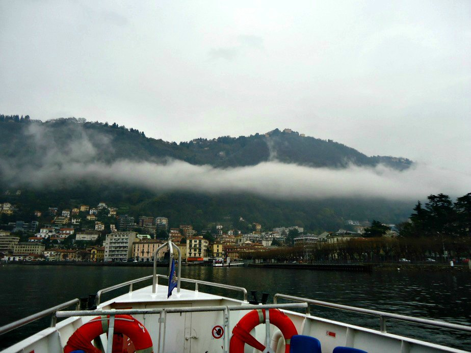 Ferry Leaving Como Italy