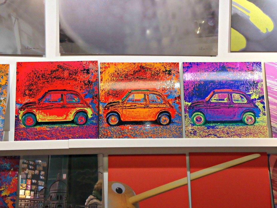 Warholesc Fiat 500s taken in Dorsoduro Venice Italy
