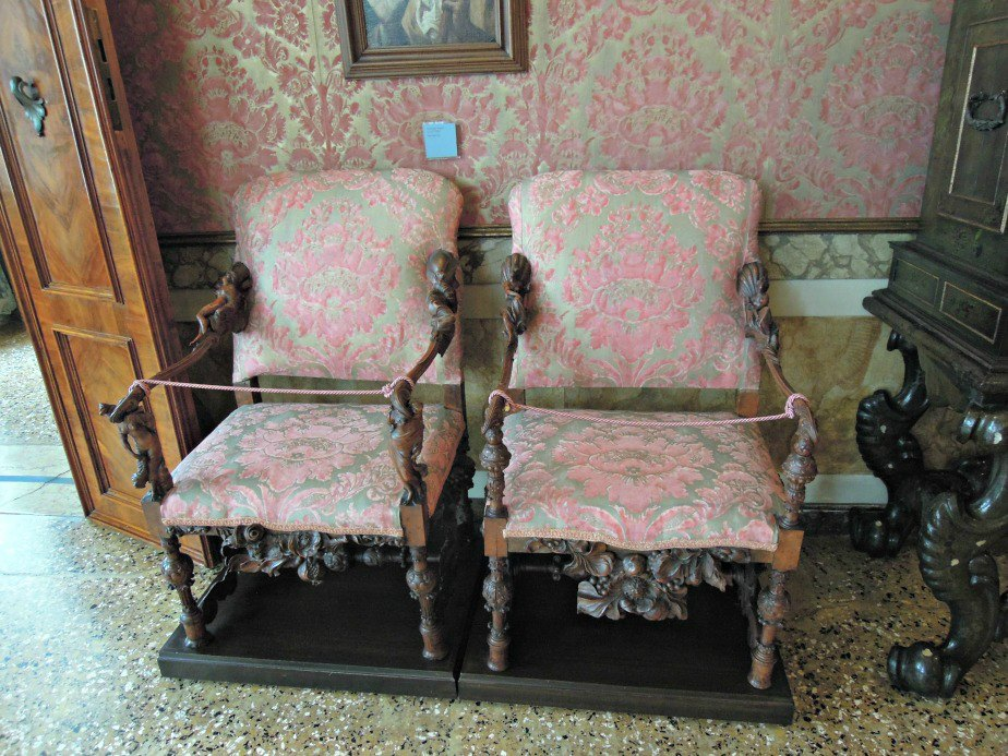 Chairs and Matching Wallpaper Ca'Rezzonico Dorsoduro Venice