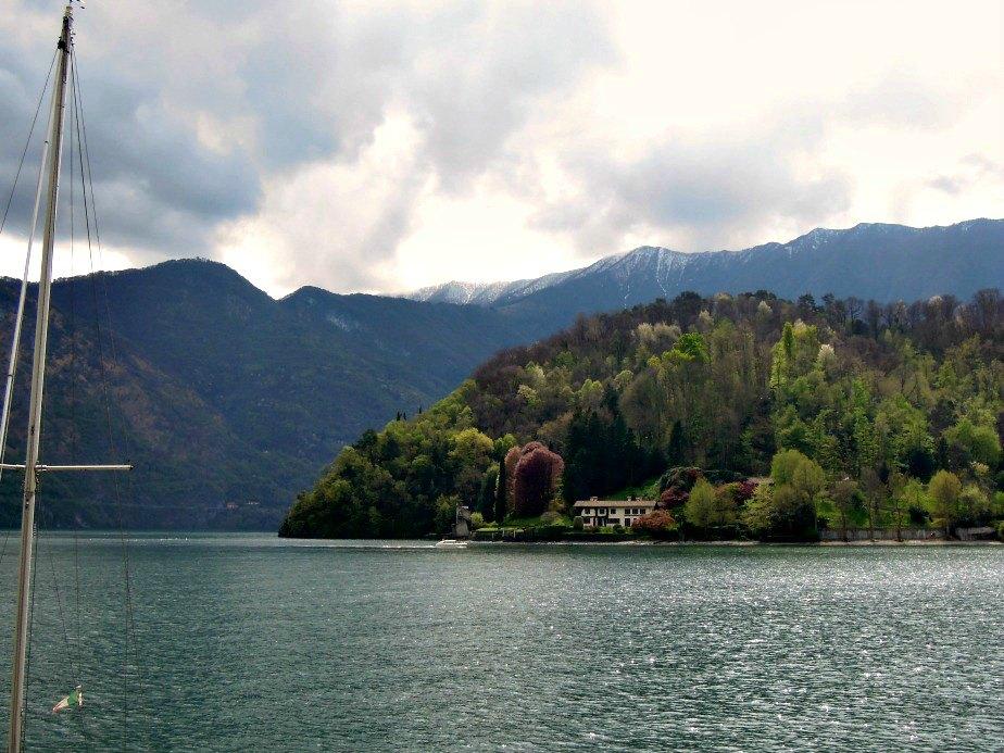 Storm Clouds Building Over Villa del Balbianello Lake Como Italy