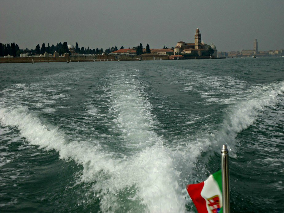 Cimitero Venice Italy from a water taxi