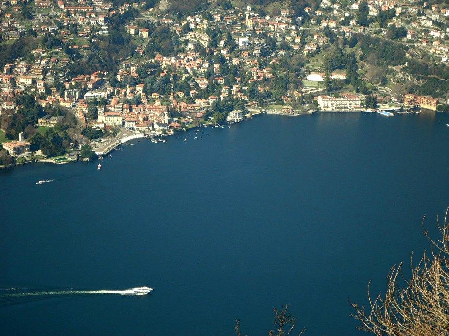 Looking Down on Cernobbio and Villa D'Este