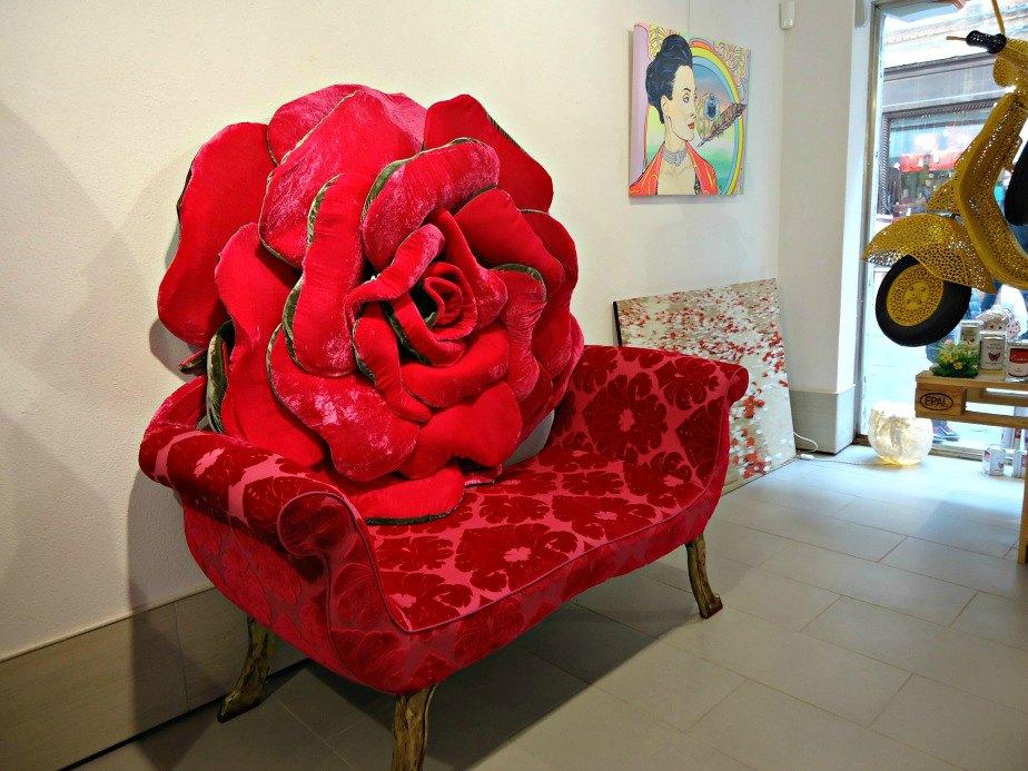 Plush Rose Cushion taken in Dorsoduro Venice Italy