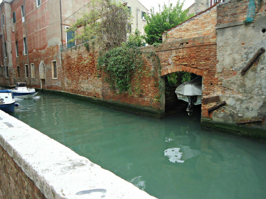 Canal and Path to Ca' Rezzonico in Venice