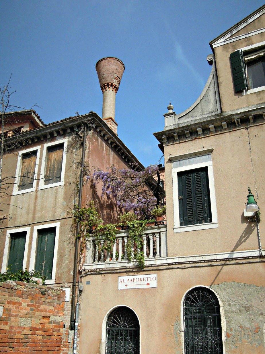 Sign to the Vaporetto in Dorsoduro Venice Italy