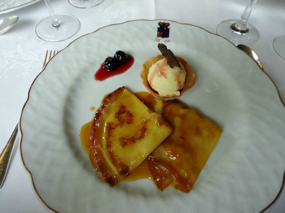 Crepe Suzette on the Veranda at Villa D'Este Cernobbio Lake Como Italy
