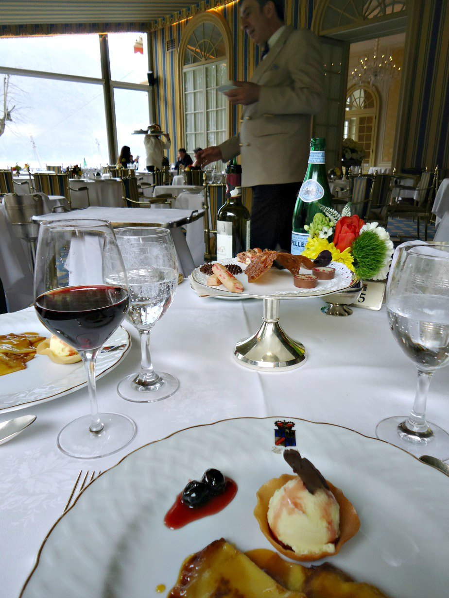 Dessert at the Veranda Restaurant at Villa D'Este Cernobbio Lake Como Italy