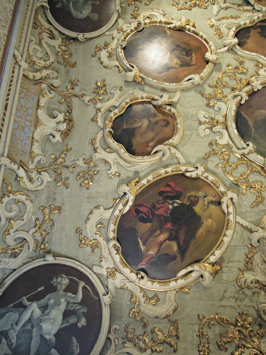 Ornate Ceiling at Ca' Rezzonico Dorsoduro Venice
