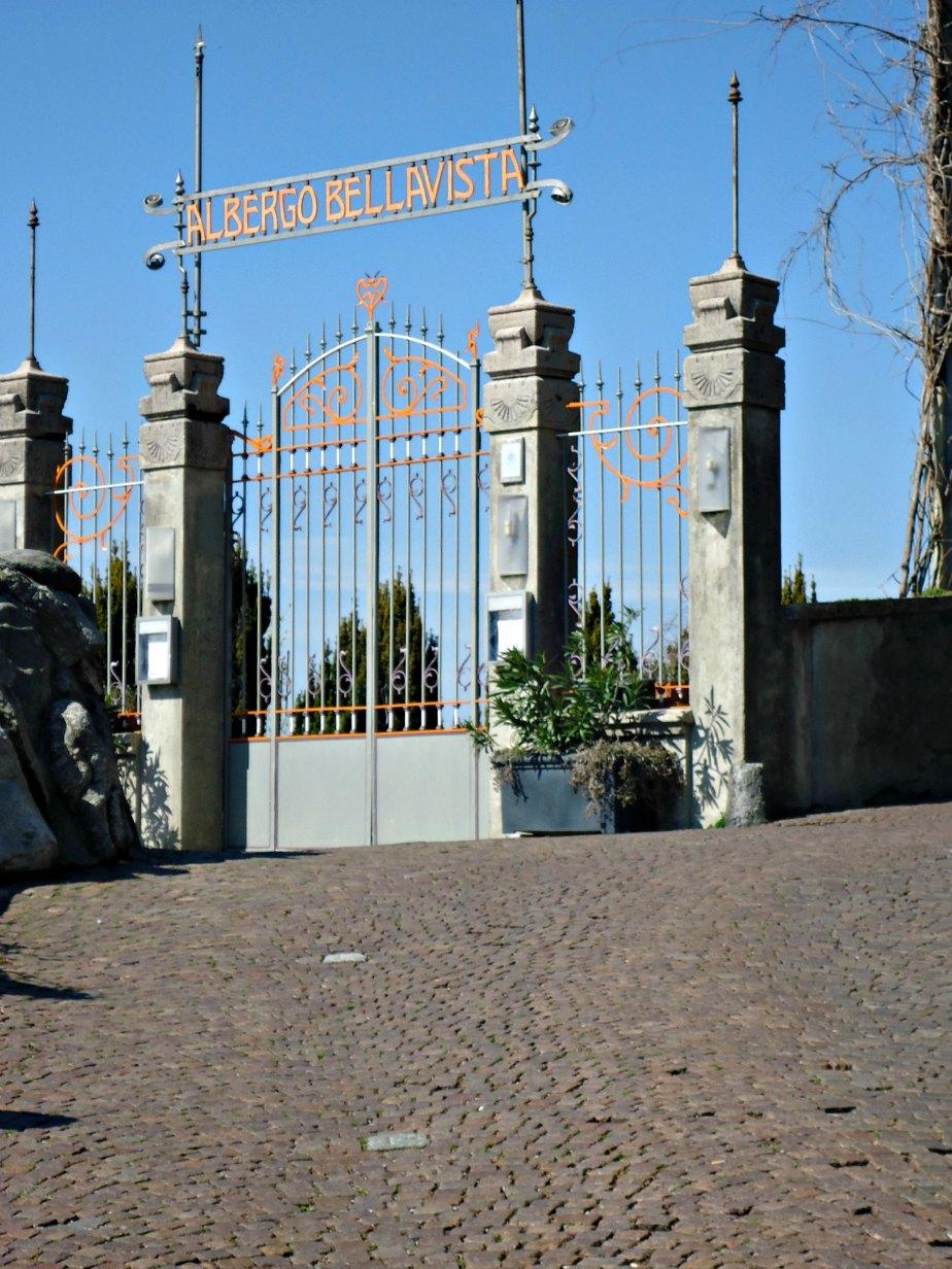 Gates to Albergo Bellavista Brunate Como Italy