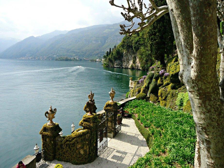 Front Gates at Villa del Balbianello Lake Como Italy