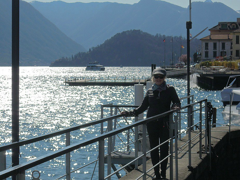 Waiting for a ferry on Lake Como