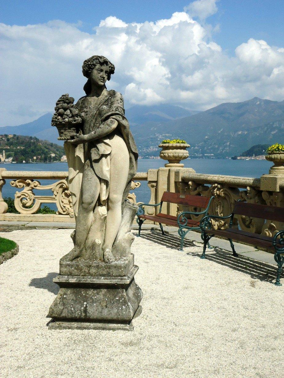 Statue at Villa del Balbianello Lake Como Italy