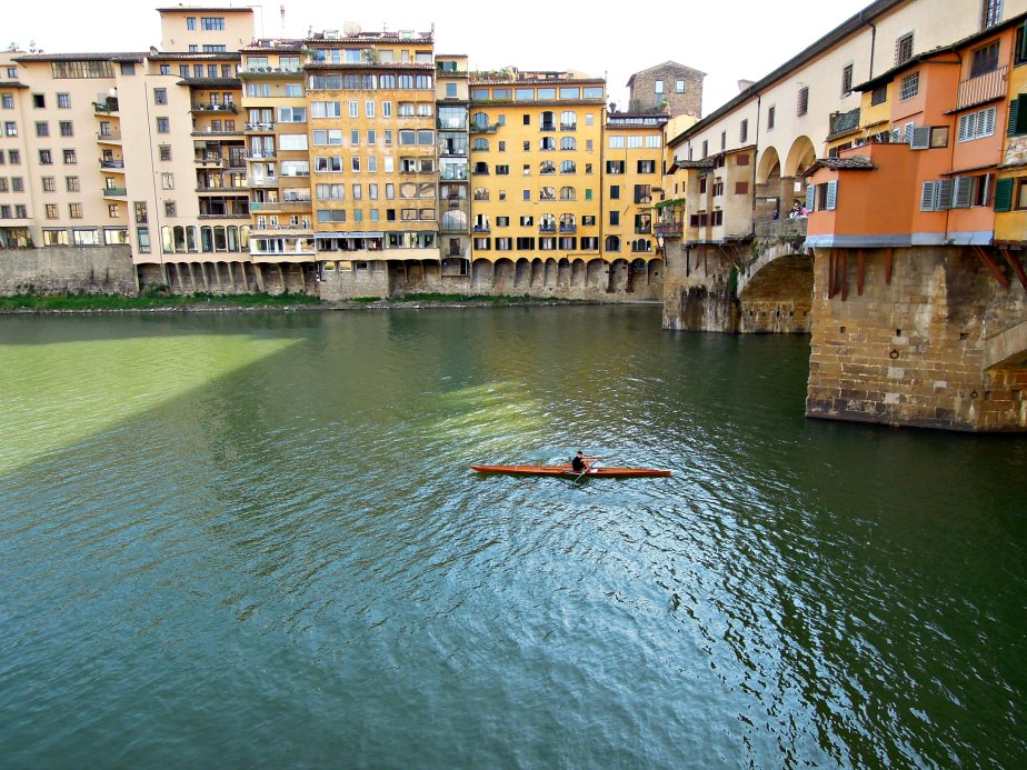 Rowing Under Ponte Vecchio