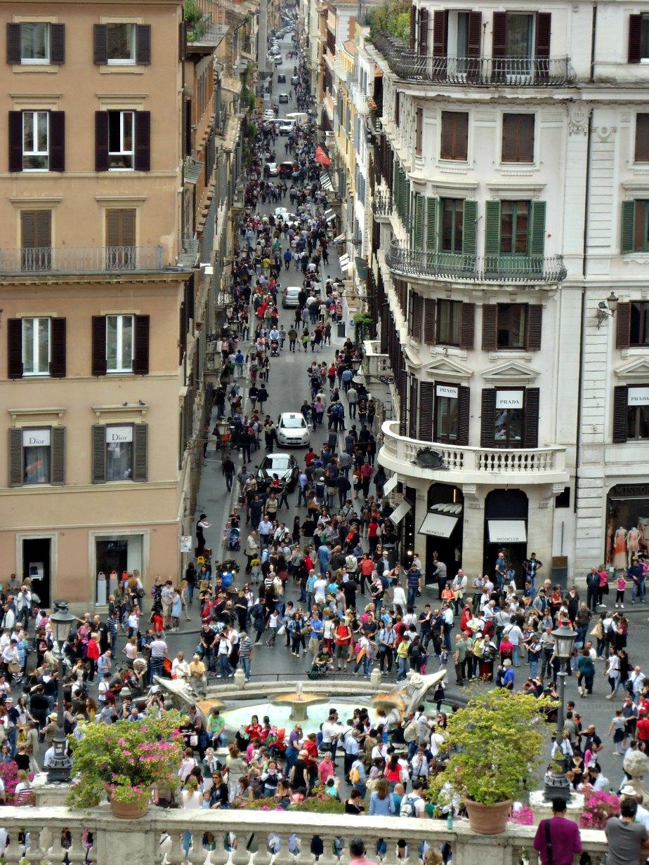 Via Condotti from the Spanish Steps