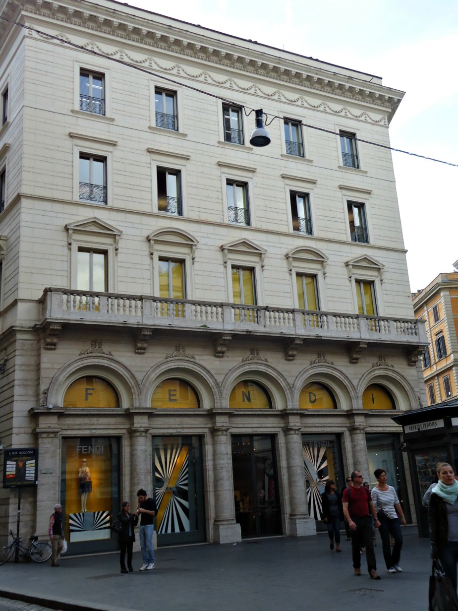 Fendi HQ on Via della Corso
