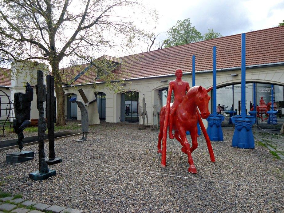 The Sculpture Garden at Kampa Museum Prague