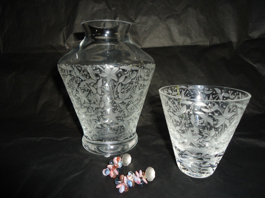 Water Carafe and Earrings from Artel Prague