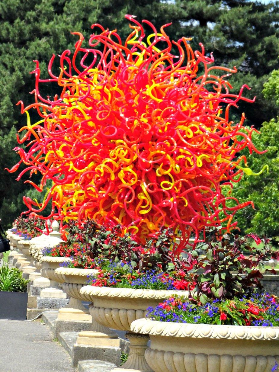 Chihuly Summer Sun Glass Sculpture, Kew Gardens