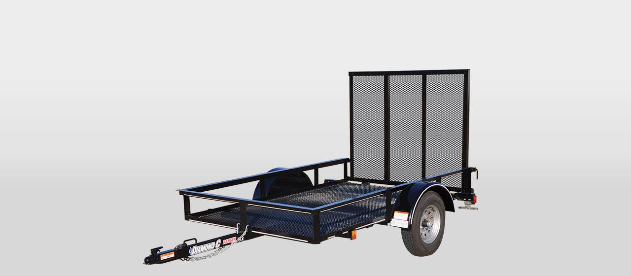 DC Ranger Single Axle Utility Trailer - 1,500 lb GVWR