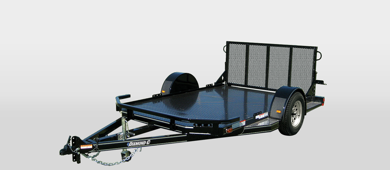 DC Utility Vehicle Motorcycle Cross Over Trailer- 2,990 lb GVWR